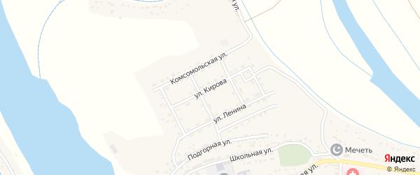 Улица Кирова на карте села Тумака с номерами домов