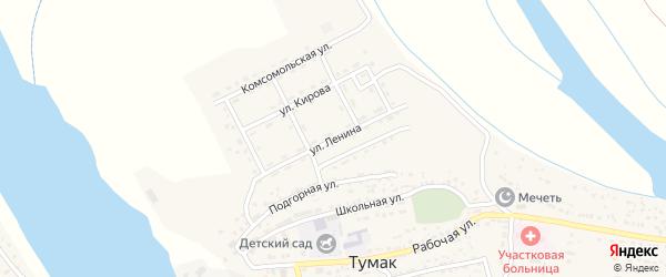 Улица Ленина на карте села Тумака с номерами домов