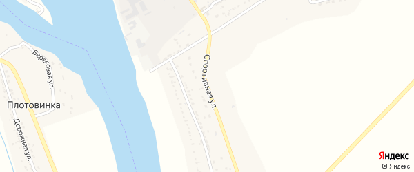 Спортивная улица на карте села Тумака с номерами домов