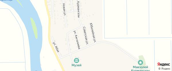 Советская улица на карте села Алтынжар с номерами домов