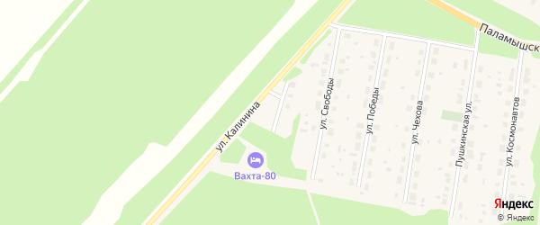 Восточная улица на карте поселка Урдома с номерами домов