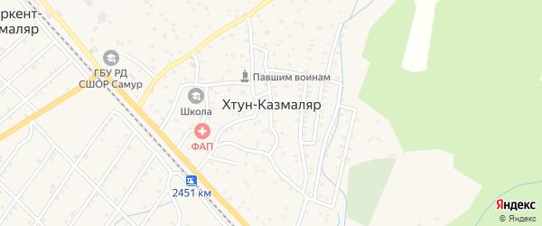 Улица Магомеда Ярагского на карте села Хтуна-Казмаляра с номерами домов