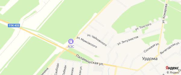 ГСК N7 на карте улицы Чайковского с номерами домов