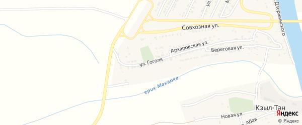Улица Гоголя на карте Володарского поселка с номерами домов