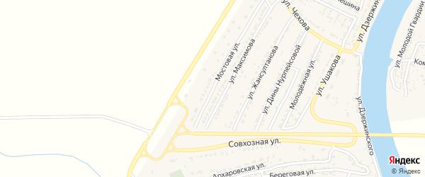 Мостовая улица на карте Володарского поселка с номерами домов