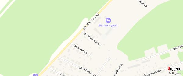 Улица Федора Абрамова на карте поселка Урдома с номерами домов