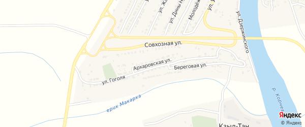 Архаровская улица на карте Володарского поселка с номерами домов