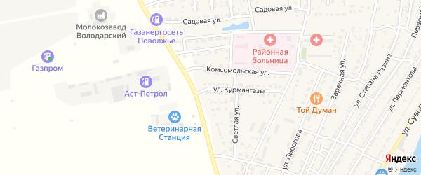 Улица Курмангазы на карте Володарского поселка с номерами домов