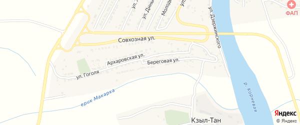 Береговая улица на карте Володарского поселка с номерами домов