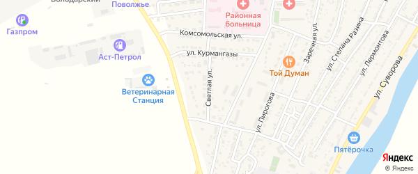 Светлая улица на карте Володарского поселка с номерами домов