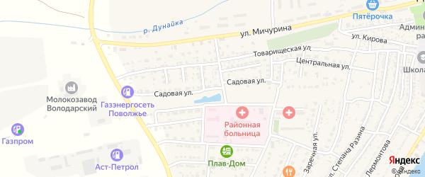 Садовая улица на карте Володарского поселка с номерами домов