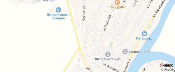 Магистральная улица на карте Володарского поселка с номерами домов