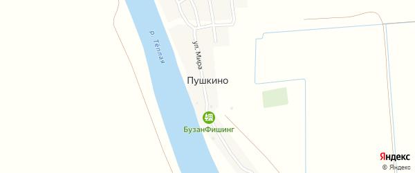 Улица Мира на карте поселка Пушкино с номерами домов