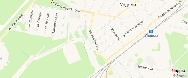 ГСК N1 на карте улицы Карлы Либкнехта с номерами домов