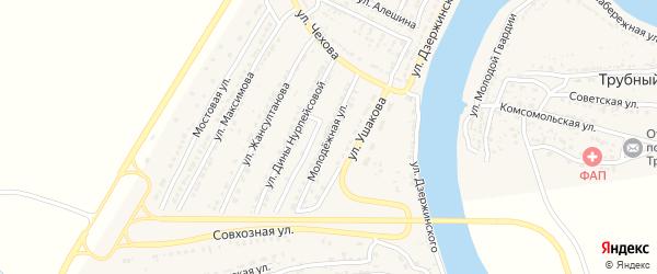 Молодежная улица на карте Володарского поселка с номерами домов
