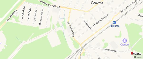 ГСК N4 на карте улицы Карлы Либкнехта с номерами домов