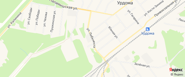 ГСК N3 на карте улицы Карлы Либкнехта с номерами домов