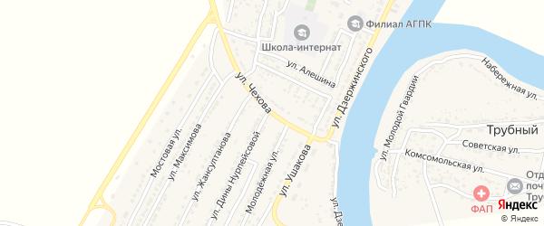 Улица Чехова на карте Володарского поселка с номерами домов