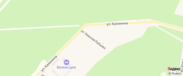 Улица Николая Рубцова на карте поселка Урдома с номерами домов