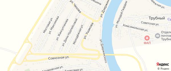 Улица Ушакова на карте Володарского поселка с номерами домов
