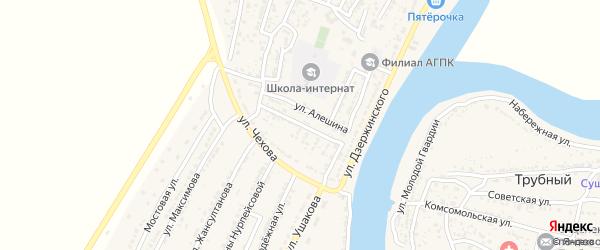 Новостройная улица на карте Володарского поселка с номерами домов
