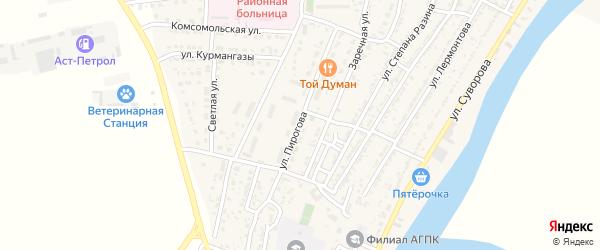 Улица Пирогова на карте Володарского поселка с номерами домов