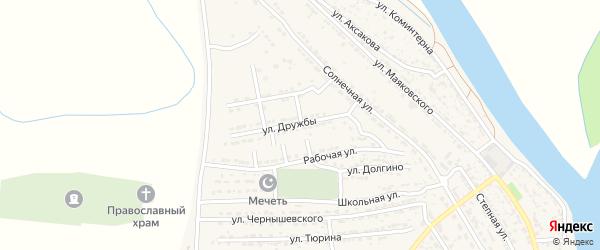 Рабочая улица на карте Володарского поселка с номерами домов
