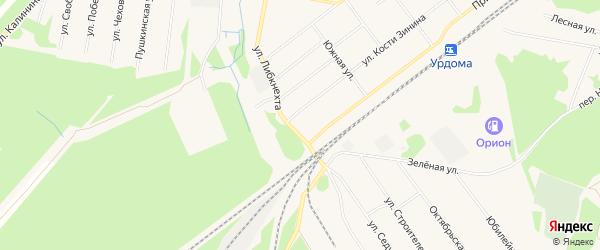 Территория Местечко Паламыш на карте поселка Урдома с номерами домов