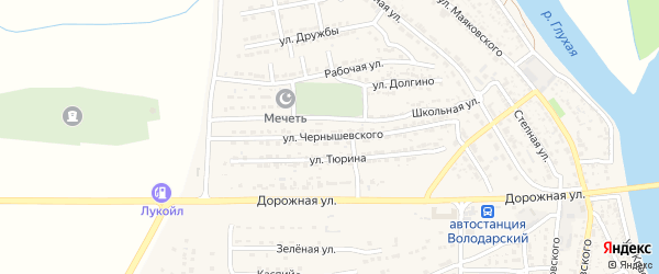 Улица Чернышевского на карте Володарского поселка с номерами домов