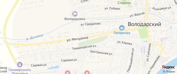 Улица Мичурина на карте Володарского поселка с номерами домов