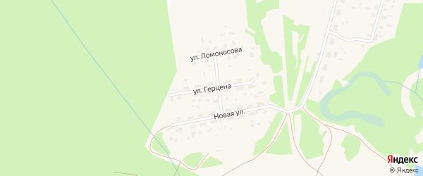 Улица Герцена на карте поселка Урдома с номерами домов