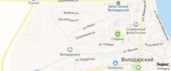 Спортивная улица на карте Володарского поселка с номерами домов
