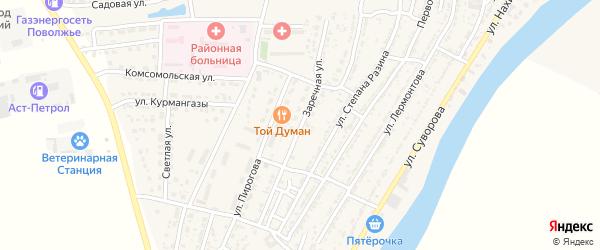 Заречная улица на карте Володарского поселка с номерами домов
