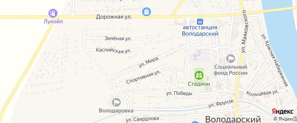 Улица Мира на карте Володарского поселка с номерами домов