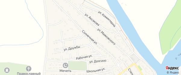 Солнечная улица на карте Володарского поселка с номерами домов