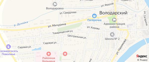 Товарищеская улица на карте Володарского поселка с номерами домов