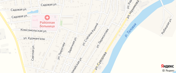 Улица Ст. Разина на карте Володарского поселка с номерами домов