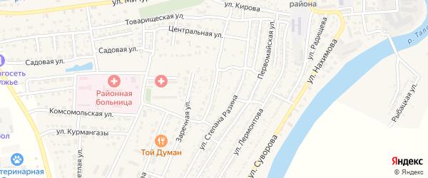 Аэродромная улица на карте Володарского поселка с номерами домов