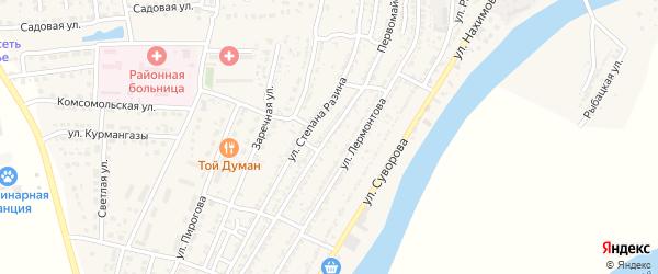 Первомайская улица на карте Володарского поселка с номерами домов