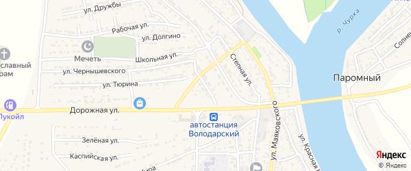Улица Шолохова на карте Володарского поселка с номерами домов