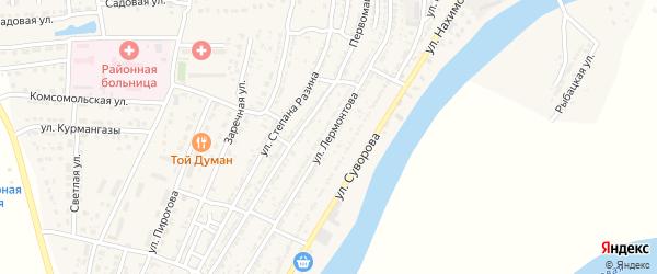 Улица Лермонтова на карте Володарского поселка с номерами домов