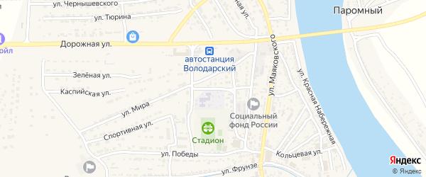 Улица Н.Курченко на карте Володарского поселка с номерами домов
