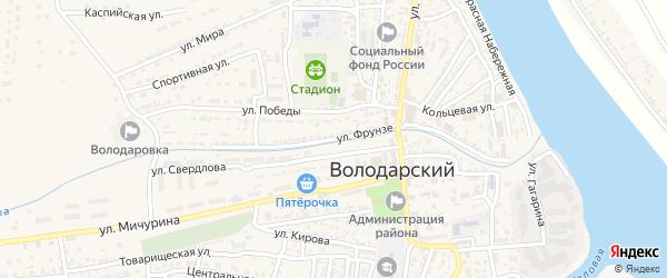 Улица Фрунзе на карте Володарского поселка с номерами домов