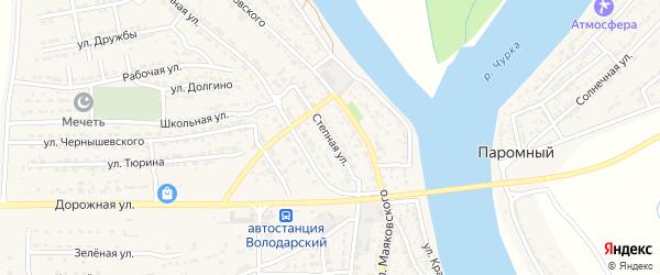 Степная улица на карте Володарского поселка с номерами домов