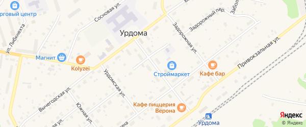 Улица Гагарина на карте поселка Урдома с номерами домов