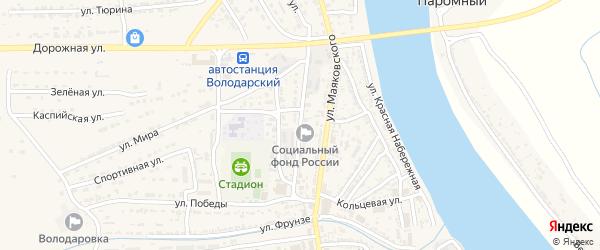 Улица Чайковского на карте Володарского поселка с номерами домов