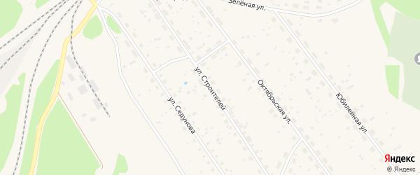 Улица Строителей на карте поселка Урдома с номерами домов