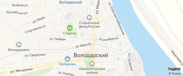 Волжская улица на карте Володарского поселка с номерами домов