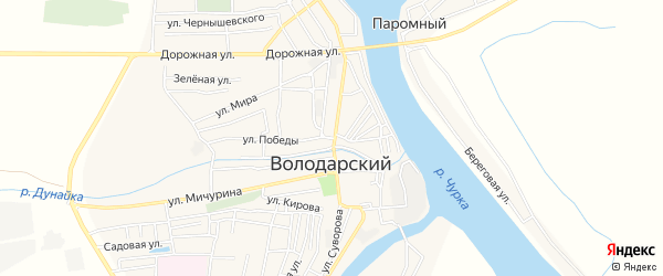 СТ сдт Дружба на карте Володарского поселка с номерами домов