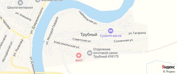 Мирный переулок на карте Трубного поселка с номерами домов